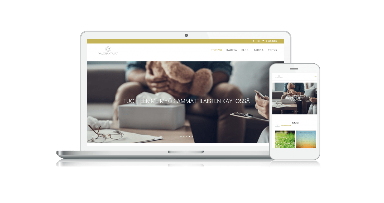 Digi Masters - Valonantajat verkkosivut www.valonantajat.fi
